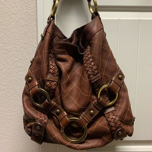 Isabella Foote quilted leather hobo Carina